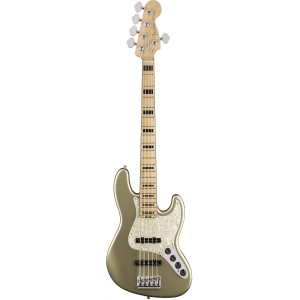 FENDER AMERICAN ELITE JAZZ BASS V CHAMPAGNE MP