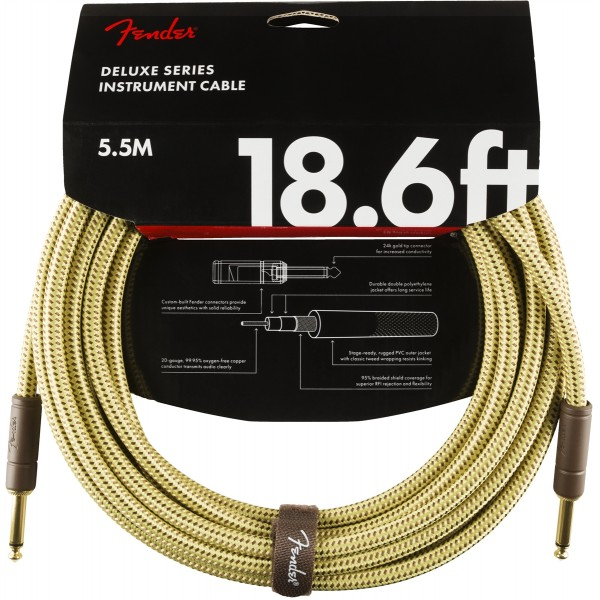 FENDER CABLE DELUXE TWEED 5,5M