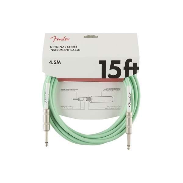 FENDER CABLE ORIGINAL SERIES SURF GREEN 4,5M