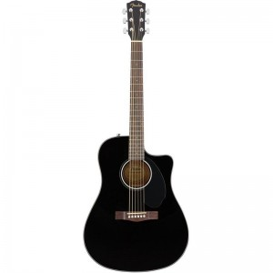 FENDER CD-60S CE NEGRA WN