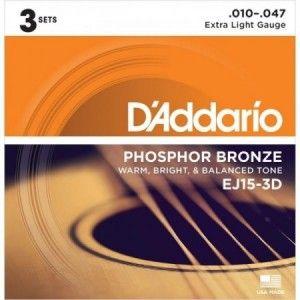 DADDARIO EJ15-3D PACK 3 JUEGOS