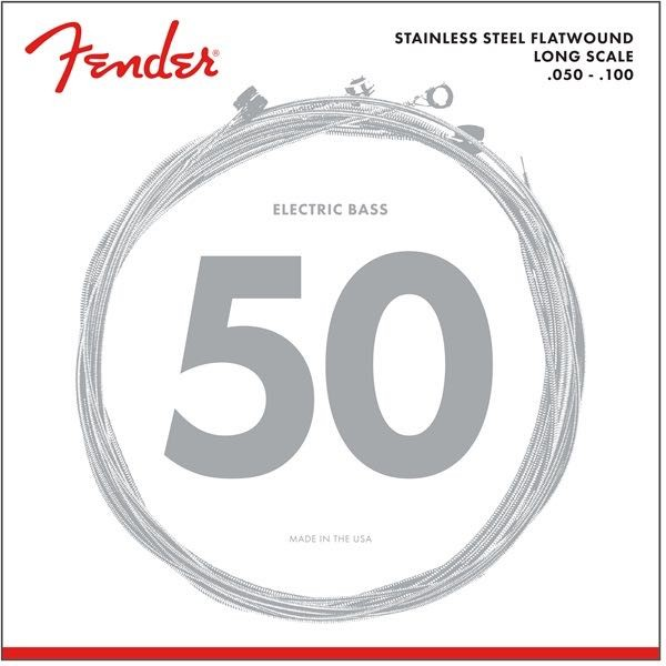 FENDER STAINLESS FLATWOUND 50-100