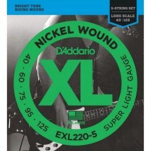 DADDARIO EXL220 40-125 5 CUERDAS
