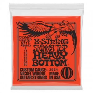 ERNIE BALL SKINNY TOP HB 9-80 8 CUERDAS
