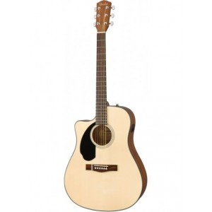 FENDER CD-60SCE DREADNOUGHT NATURAL WN ZURDO