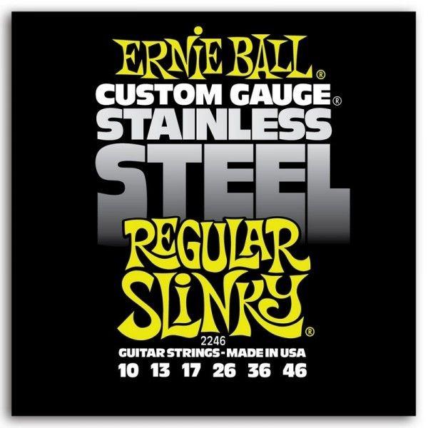 ERNIE BALL SLINKY S STEEL REGULAR 10-46