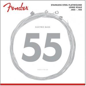 FENDER 9050 STAINLESS FLATWOUND M 55-105