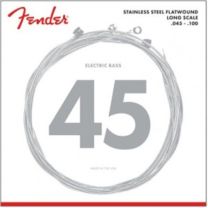 FENDER 9050 STAINLESS FLATWOUND CL 45-100