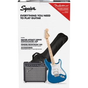 SQUIER PACK STRATO HSS LPB AFFINITY Y FRONTMAN 15