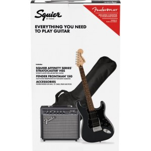 SQUIER PACK STRATO HSS BLK AFFINITY Y FRONTMAN 15