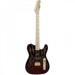 FENDER JAMES BURTON TELE RED PAISLEY FLAMES MP