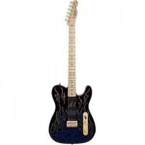 FENDER JAMES BURTON TELE BLUE PAISLEY FLAMES MP