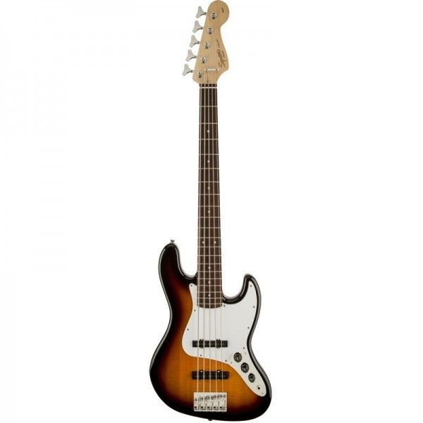 SQUIER JAZZ BASS AFFINITY BROWN SB RW 5 CUERDAS