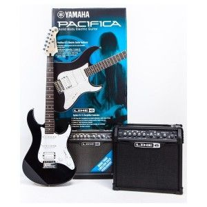 YAMAHA PACK PACIFICA 012 NEGRA + L6 CLASSIC 15
