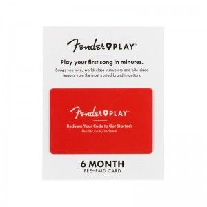 FENDER PLAY CARD PREPAID 6 MESES