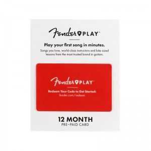 FENDER PLAY CARD PREPAID 12 MESES