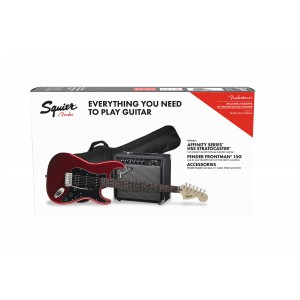SQUIER PACK STRATO AFFINITY HSS ROJA Y FRONTMAN G15