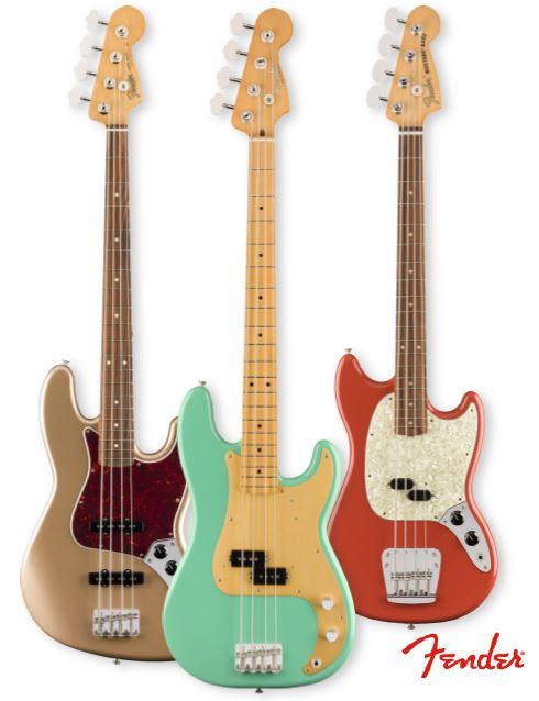 Bajos eléctricos de la nueva serie Vintera de Fender