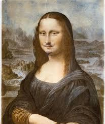 """Gioconda con bigote"""" de Marcel Duchamp"""
