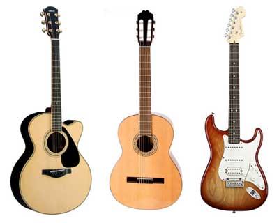 Guitarra clásica,acústica y eléctrica